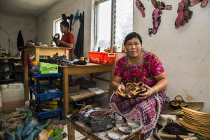 OXFAM WISE PROGRAM Guatemala, 2015  Gloria Martina Chávez Mus: owner of Calzados Schel; maker and seller of shoes; loan recipient lives in Santa Lucia Utatlan, Solola